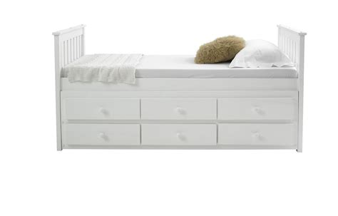 Single Bed With Drawers by Betternowm Co Uk Mission Captain 3ft Single Wood Guest Bed 3 Drawers With 2 X