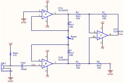 about circuit electret microphone and instrumentation lifier