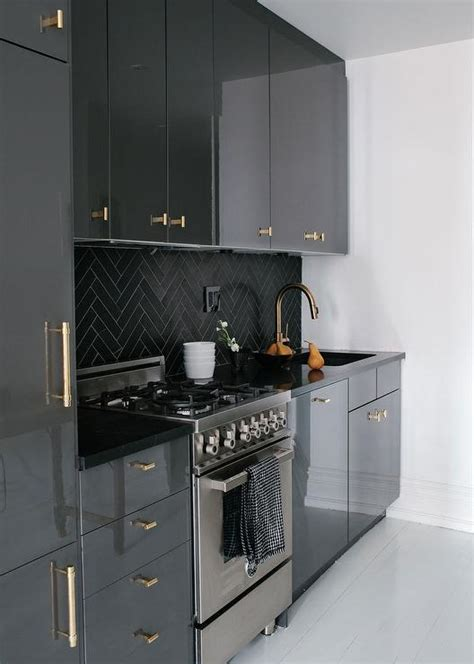 black and grey kitchen cabinets black white and gray kitchen design ideas