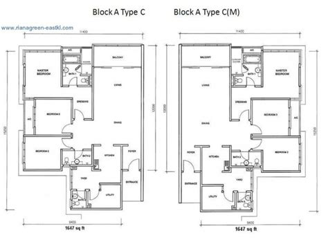 Dua Residency Floor Plan by Riana Green Eastkl Properties Kuala Lumpur City