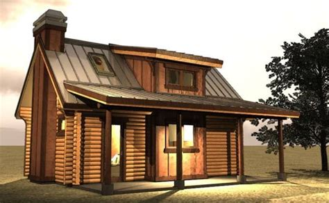 small log cabin with loft tiny house