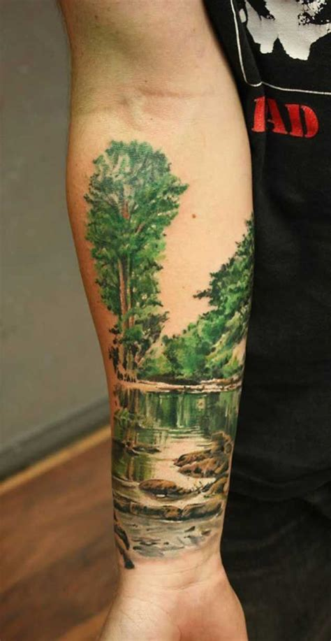 landscape tattoos 25 best ideas about landscape on