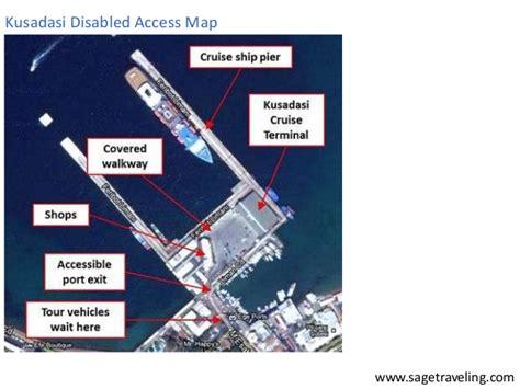 kusadasi port map kusadasi cruise port disabled access review