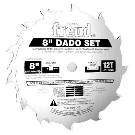 freud table saw blades table saw blades freud 8 quot pro dado set