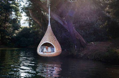 Suspended Bed swing amp nest rests dynamic duo of outdoor lounging urbanist