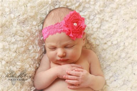 Headband Baby Flower infant headband baby headband pink shabby flower with pearl