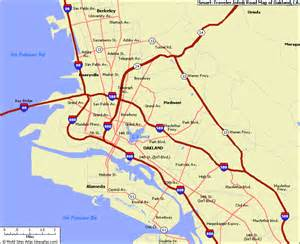 map of oakland california california map