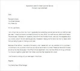thank you letter for appreciation 10 free word excel