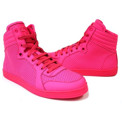 neon high top sneakers gucci s neon pink coda high top sneaker s shoes