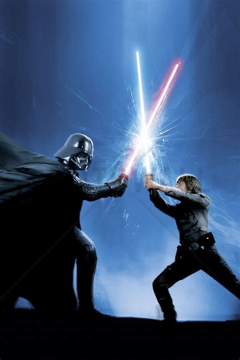 star wars darth vader and luke skywalker wall mural