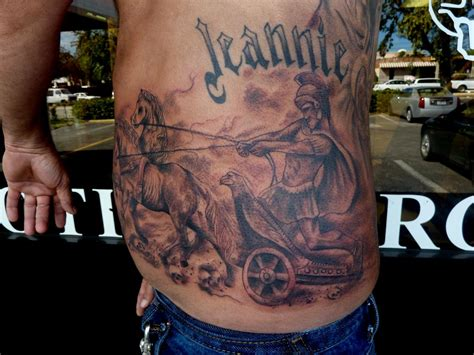 rome tattoo chariot by mully tattoonow