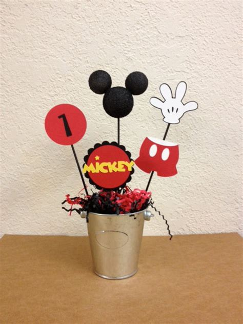 Mickey Mouse Handmade Decorations - mickey mouse birthday centerpieces set of 4 or baby shower