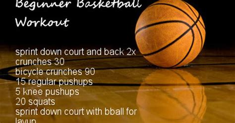 beginner basketball workout basketball