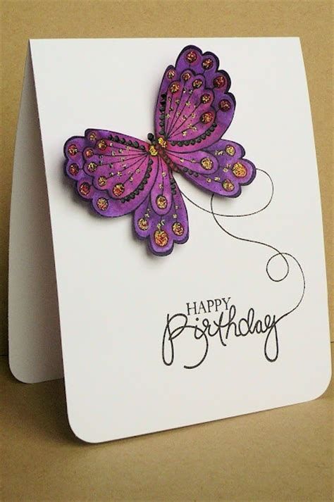 card butterfly birthday butterfly how to s