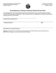 policy acknowledgement form template acknowledgement of receipt of enterprise wireless service