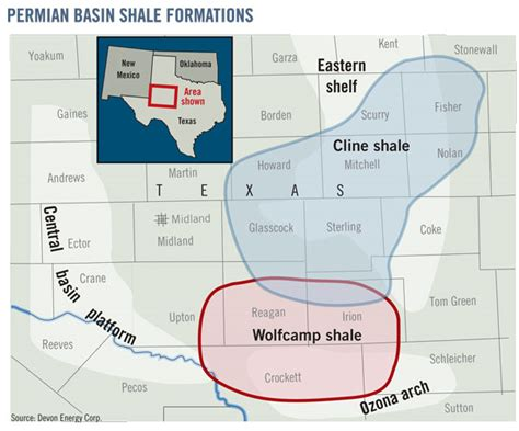 texas shale map the next big boom the cline shale play energy technology policy