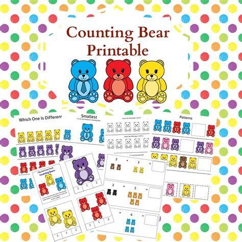 printable counting games free printables and games that use counting bears