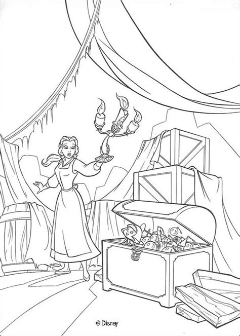 belle christmas coloring pages belle discovers the christmas chest coloring pages