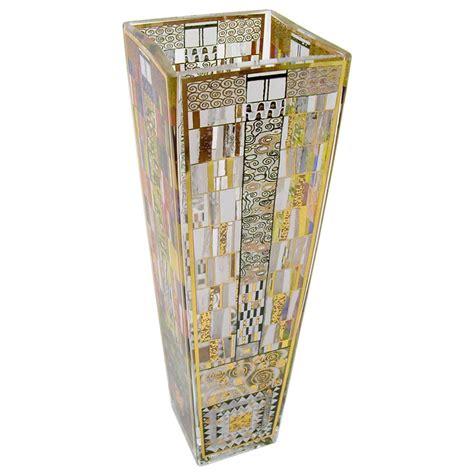 Gustav Klimt Vase by Gustav Klimt Stoclet Fries 38cm Glass Vase