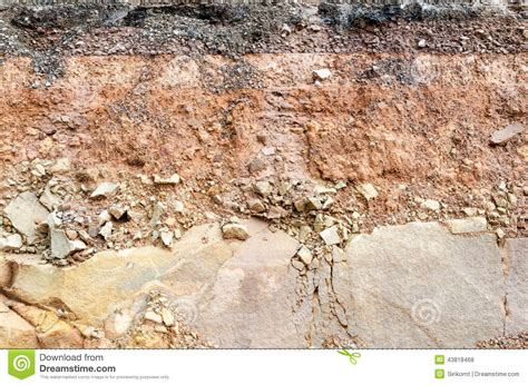 soil section road collapses layer of soil beneath section stock photo