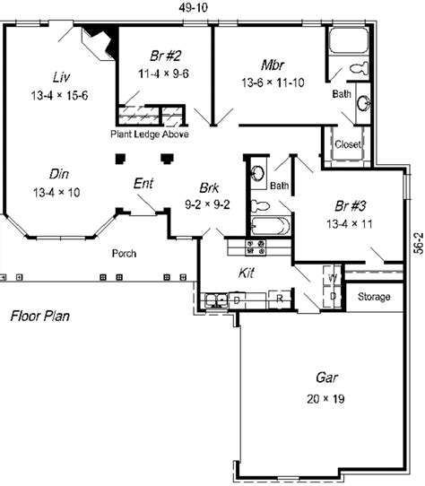 Traditional Plan 3 065 Square 4 Bedrooms 3 Traditional Style House Plan 3 Beds 2 Baths 1427 Sq Ft