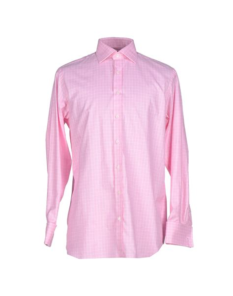 Pink Shirt pink shirt in pink for lyst