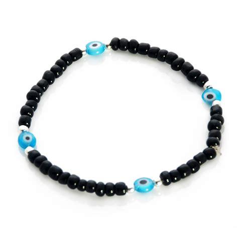 evil eye beaded bracelet black seed bead evil eye bracelet gift shop