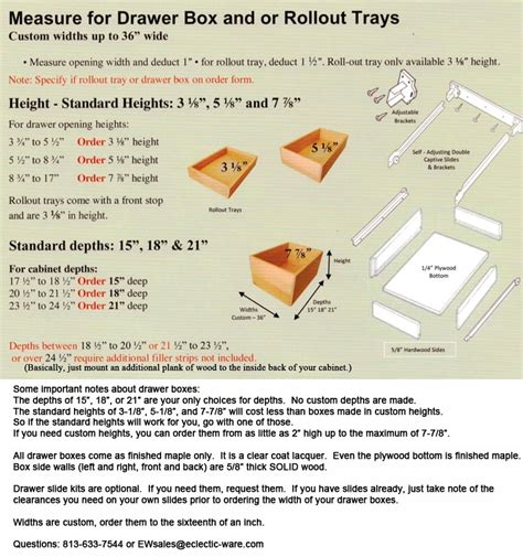 How To Measure Kitchen Cabinet Doors by Custom Made To Size Wood Drawer Boxes Eclectic Ware