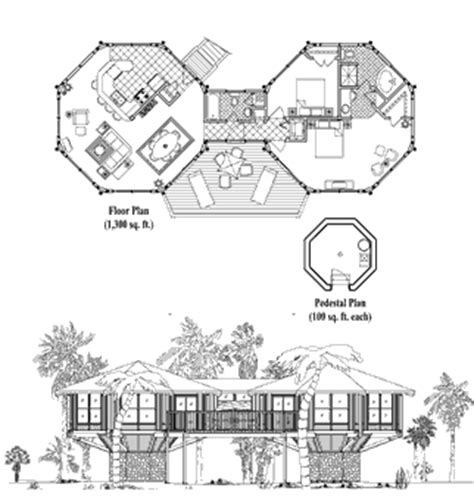 pedestal house plans multi pedestal house plans topsider homes