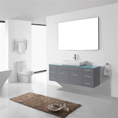 Minimalist Vanity by Minimalist Modern Single Bathroom Vanity Cabinet Set In