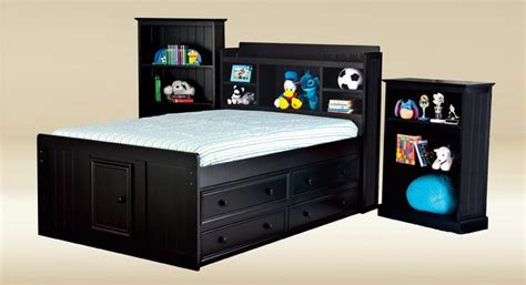 full size captain bed full size kids captain bed with bookcase by good trading
