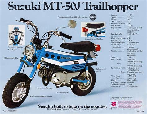 Suzuki Trailhopper by Imcdb Org 1971 Suzuki Mt 50 J Trailhopper In Quot Slither 1973 Quot