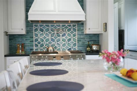 glass backsplash ideas kitchen traditional with blue glass