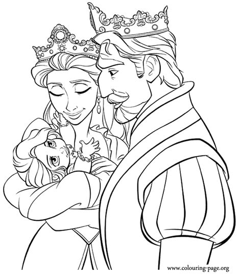 king queen baby rapunzel coloring rapunzel party rapunzel