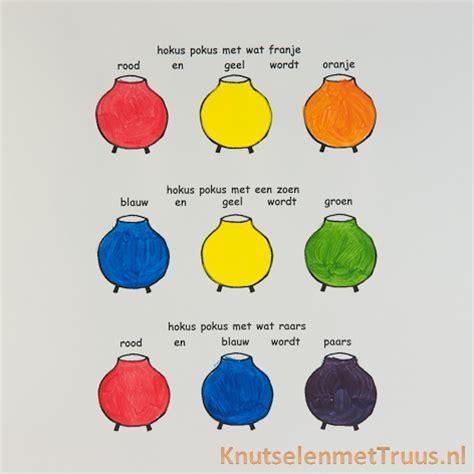 Welke Kleuren Maken Rood by Met Verf Kleuren Mengen Voor Kinderen Knutselenmettruus
