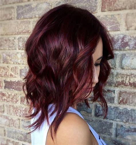 burgundy highlights on shag haircuts imaginative medium length hairstyles hair world magazine