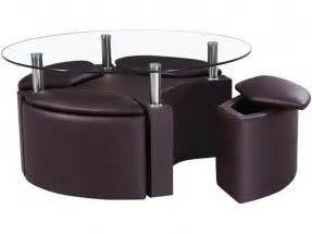 Dakota Coffee Table And Four Ottoman Stools by Coffee Table With Four Ottomans Foter