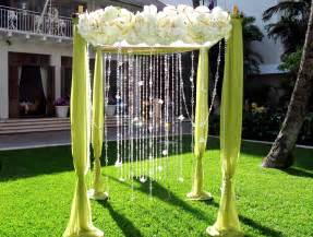Wedding Ceremony Canopy Aloha Bridal Gallery Creative Beach Wedding Arches