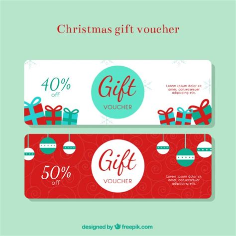 discount holiday vouchers christmas gift discount voucher vector free download