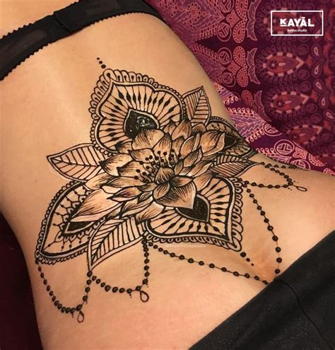 henna lower back tattoos water henna on the lower back by ḵayāl henna
