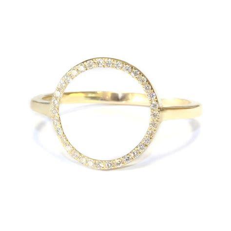 open circle ring 14k gold white by sillyshinydiamonds