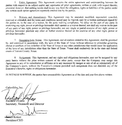 Agreement Letter For Compensation Galenfeha Inc Form S 1 A Ex 10 Executive Compensation Agreement July 24 2013