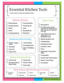 kitchen checklist for home essential kitchen tools for easier meal preparation