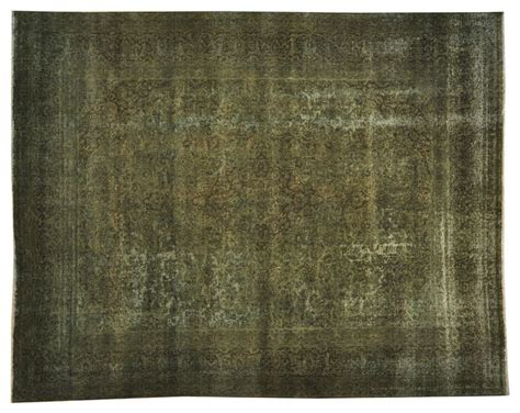 Forest Green Area Rugs Forest Green Overdyed Kashan Some Wear Knotted Rug Sh17808 Transitional Area