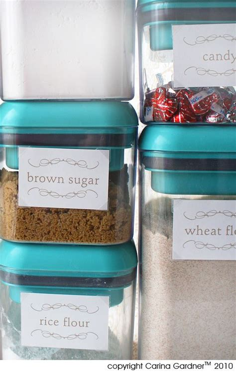 canister flour sugar labels free pantry