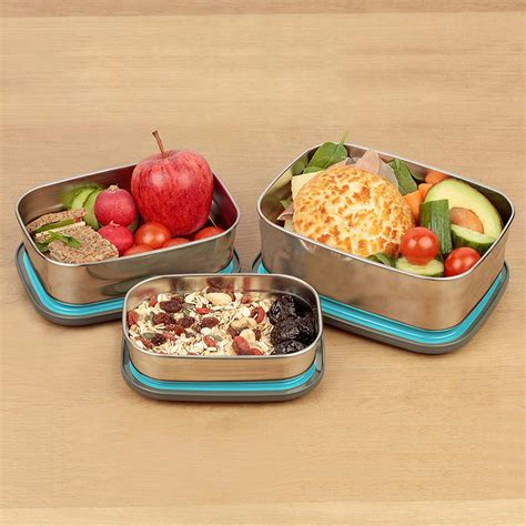 Lunch Box Blue bento lunch box stainless steel food containers blue set