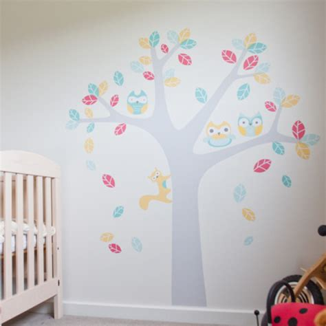 owl tree wall stickers owl tree wall sticker for nursery