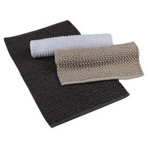 bath room mat koo woven looped bath mat