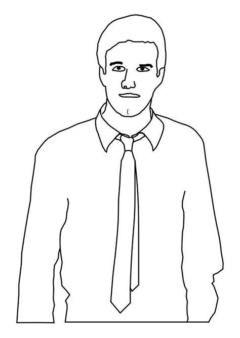 imagenes de hombres fuertes para colorear dibujo para colorear hombre con corbata img 25588