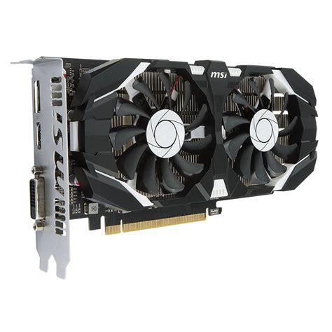 Msi Geforce Gtx1050 Ti 4gt Lp msi geforce gtx 1050 ti 4gt oc carte graphique msi sur